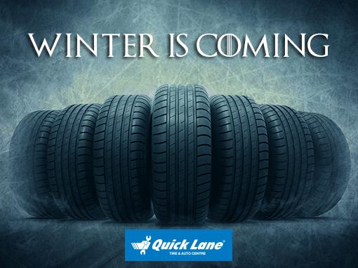 We store tires At Quick Lane Regina